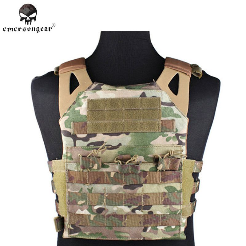 Emerson 500D Molle JPC Vest Simplified Version Military Paintball Hunting Tactical Vest Chest Protective 7074 Foam Plate Carrier