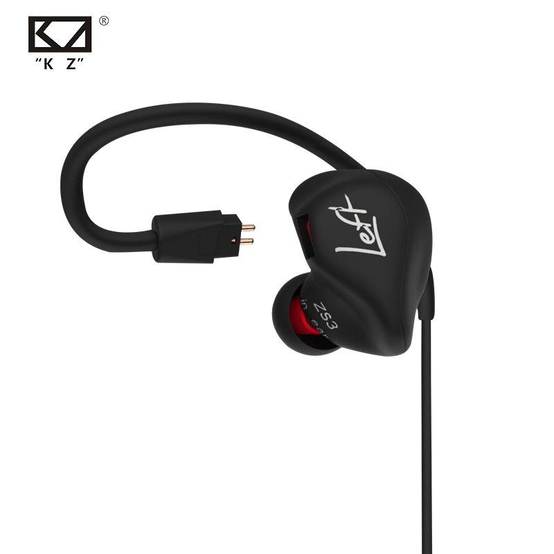 KZ ZS3 écouteurs ergonomiques dans l'oreille moniteurs Audio isolation du bruit HiFi musique Sports écouteurs vs ZST/ZSR/ZS5/ZS6/ZS10/ED15/ES4/BA10