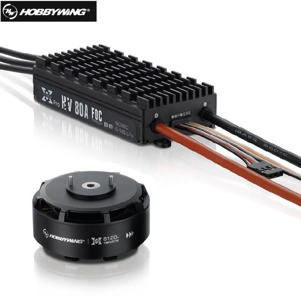Hobbywing XRotor FOC Power System Combo Brushless 8120 100KV Motor & HV 80A FOC V3 ESC for FPV Racing Quadcopter