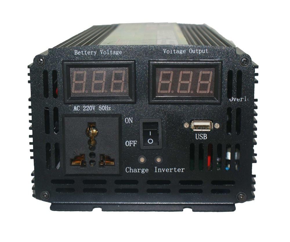 Kostenloser Versand dc12v zu ac220v inverter 1.5kw Automatische schalter Inverter 3000 watt mit ladegerät Taiwan modell