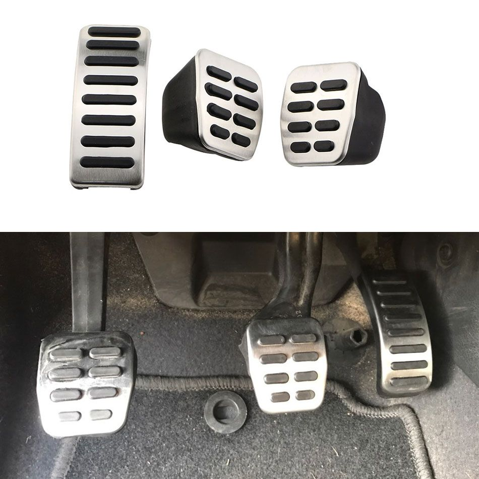 1 Set Stainless Steel Car Gas Brake Pedale Pedals for Audi A1 A2 A3 / S3 ( 8L ) 1995 - 2003 TT + Cabrio 8N Car Parts Accessories