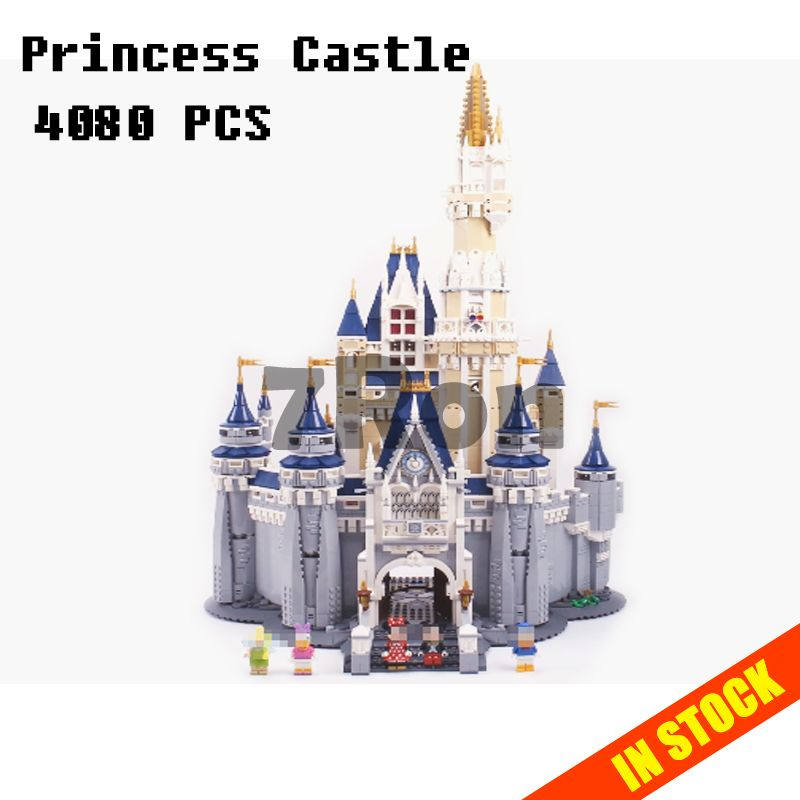Models building toy 16008 Cinderella Princess Castle Model Building Blocks Compatible with lego City Series 71040 toys & hobbies
