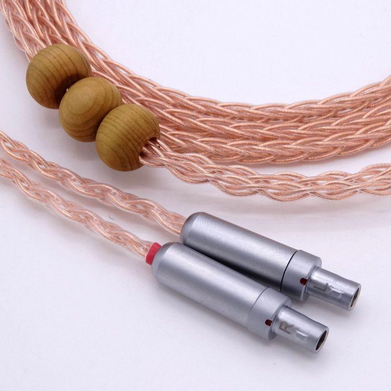 1.5m DIY Hi-end HIFI 8 Cores 5n Pcocc copper Headphone Upgrade Cable for SENNHEISER HD800