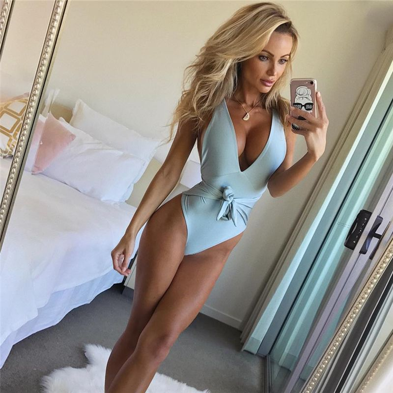 Ariel Sarah 2018 New Bandage One Piece Swimsuit Sexy Plus Size Swimwear Low Bust Swimming <font><b>Suit</b></font> Women Bathing <font><b>Suit</b></font> Bechwear Q034
