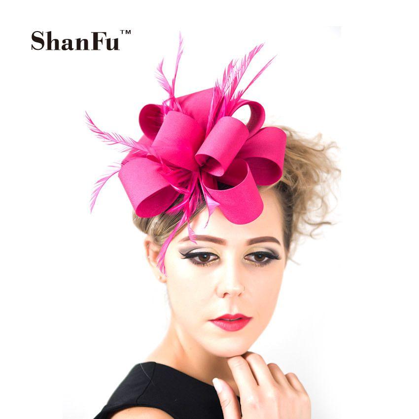ShanFu Dames De Mode Fascinateur Bandeaux Main Plume Fascinators avec Clip Bandeau pour le Mariage Cocktail SFC12269