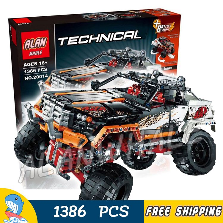 1386pcs 2in1 Technic Remote Controlled 4 x 4 Rock Crawler Off-road Truck 20014 Model Building Blocks Toys Compatible With Lego