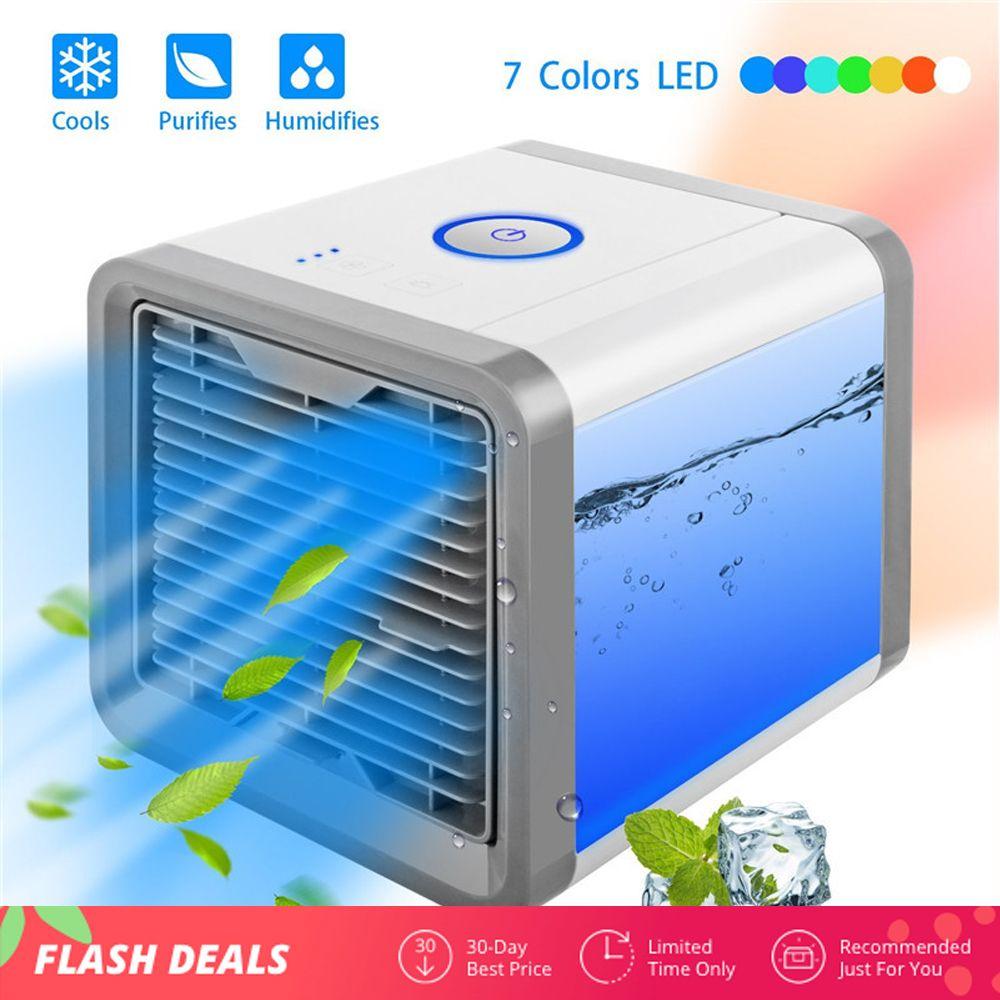 Mini USB Portable climatiseur humidificateur purificateur 7 couleurs lumière bureau Air refroidissement ventilateur Air refroidisseur ventilateur pour bureau