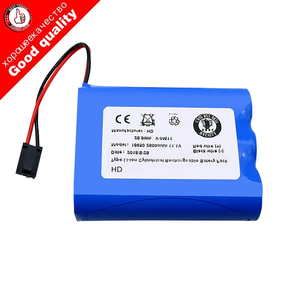 Li-Ion battery 11.1v 2600mah li-ion rechargeble battery for PUPPYOO V-M611A V-M611 M611 robot vacuum cleaner mopping robot