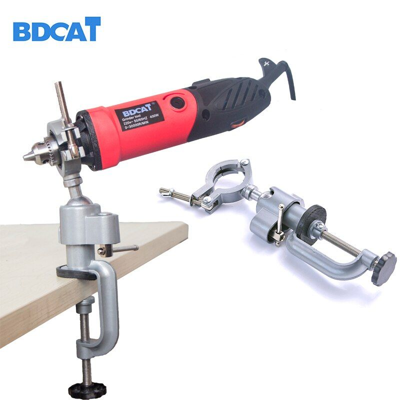 BDCAT Grinder Accessory Electric Drill Stand Holder bracket <font><b>used</b></font> for Dremel mini drill multifunctional Die Grinder