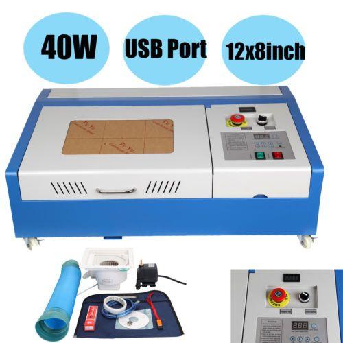 (Schiff von DE) CNC CO2 40 W Router Gravur Maschine Schneiden Maschine 300x200mm Laser Stecher