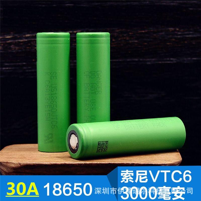Pour SONY NOUS 18650 VTC6 30AH Coutinuous décharge 3000 mah 3.6 V 3.7 V Dynamique Au Lithium Li-ion Rechargeable Batteries (livraison chargeur)