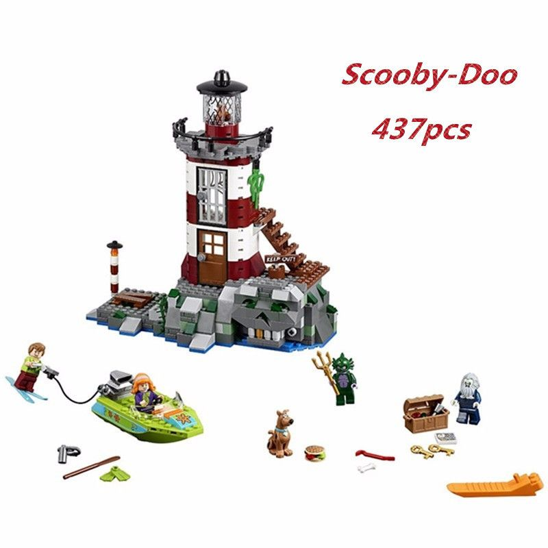 437pcs Friends Haunted Lighthouse Model Diy Blocks Compatible With Legoingly Scooby Doo Brick Toys Gift For Children Brinquedos