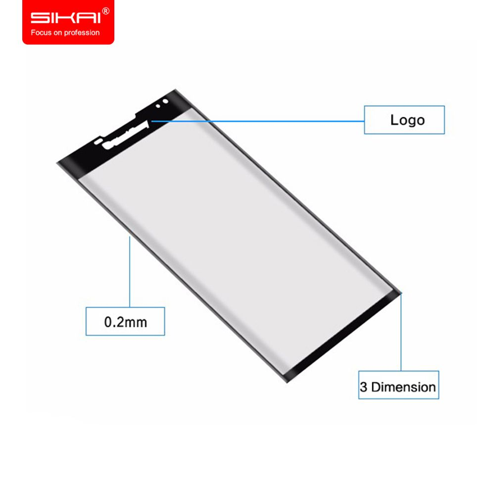 SIKAI 3D Full Coverage Tempered Glass Screen protector For Blackberry Priv Screen Protector Curvy glass screen For BB Priv 5.4