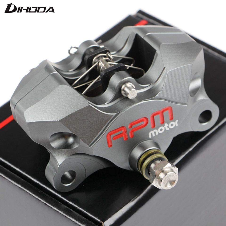 Universal Motorcycle Rear CNC RPM brake Caliper brake pump under the double piston hole 84mm small crabs calipers power