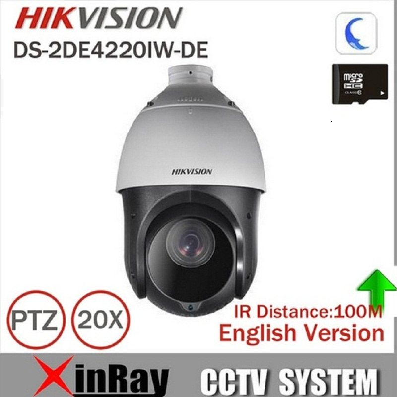 Hikvision Original English 2MP PTZ DS-2DE4220IW-DE /DS-2DE4225IW-DE PTZ security Surveillance POE ONVIF POE CCTV IP Camera