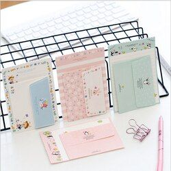2pcs/lot  Mini lovely Letter letterhead small envelope writing paper stationery kawaii birthday christmas card envelopes gift