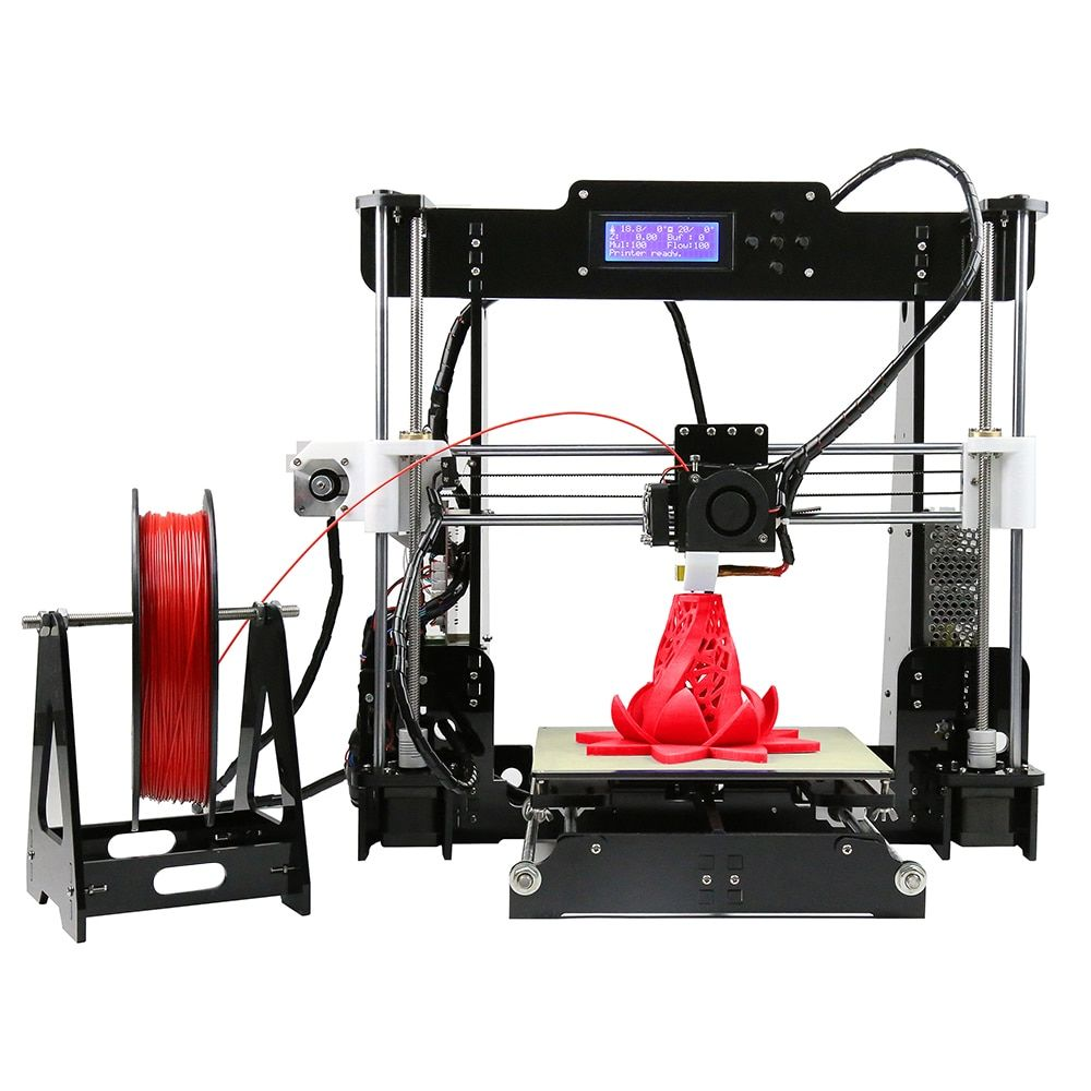 2017 Upgrade Auto leveling Prusa i3 3D Printer kit diy Anet A8 3d printer with Aluminum Hotbed Free 10m Filament 8GB card LCD