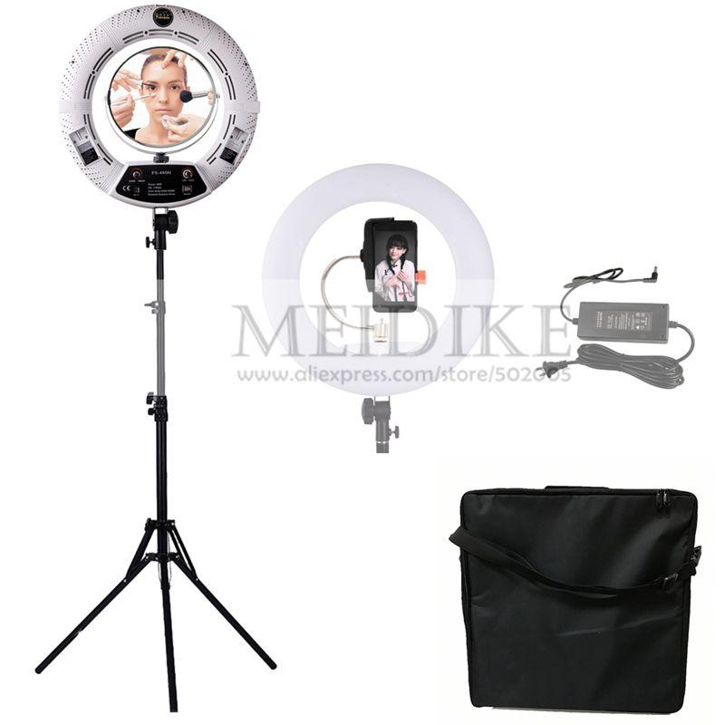 Yidoblo weiß FS-480II Dimmbare Pro 2 farben einstellbar schönheitssalon make-up 48 Watt 480 Led-ringlicht Led-lampe + 2 Mt standing + Tasche Kit