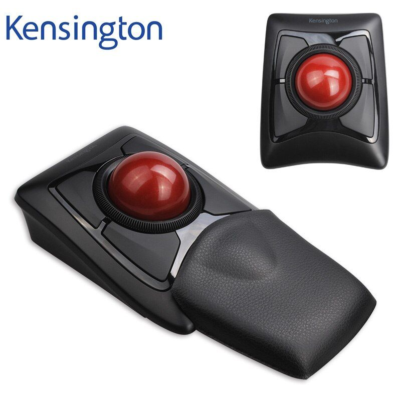 Newest Kensington Wireless Expert Trackball Mouse Bluetooth 4.0 LE/2.4Ghz (Large Ball Scroll Ring) with Retail Packaging K72359