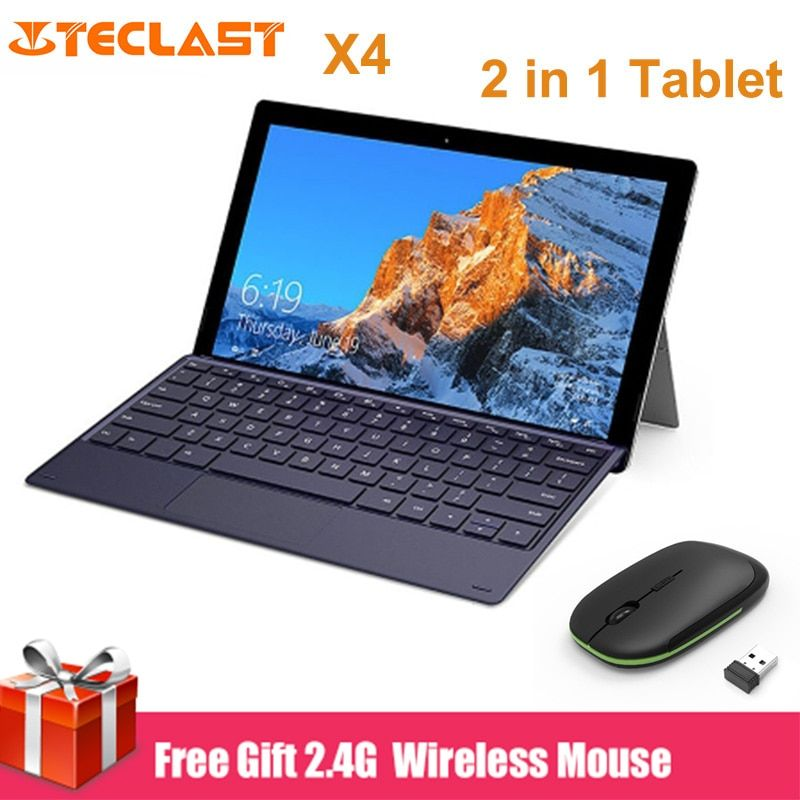 Teclast X4 2 in 1 Tablet PC 11,6 zoll Windows 10 Celeron N4100 Quad Core 8 GB RAM 128 GB SSD dual Kamera HDMI Laptop mit Tastatur