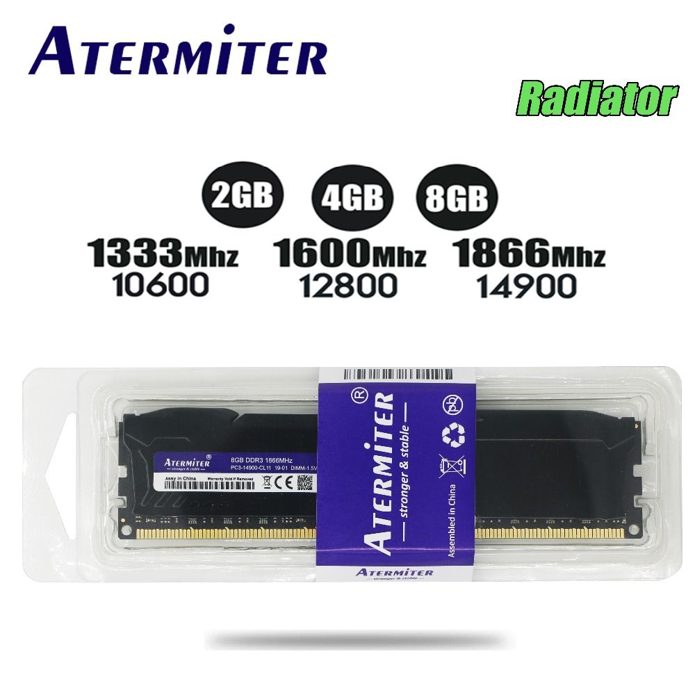 New 8GB DDR3 PC3 1866Mhz 1333MHz For Desktop PC DIMM Memory RAM 240 pins For AMD System High Compatible 4g 2g 1600Mhz radiator