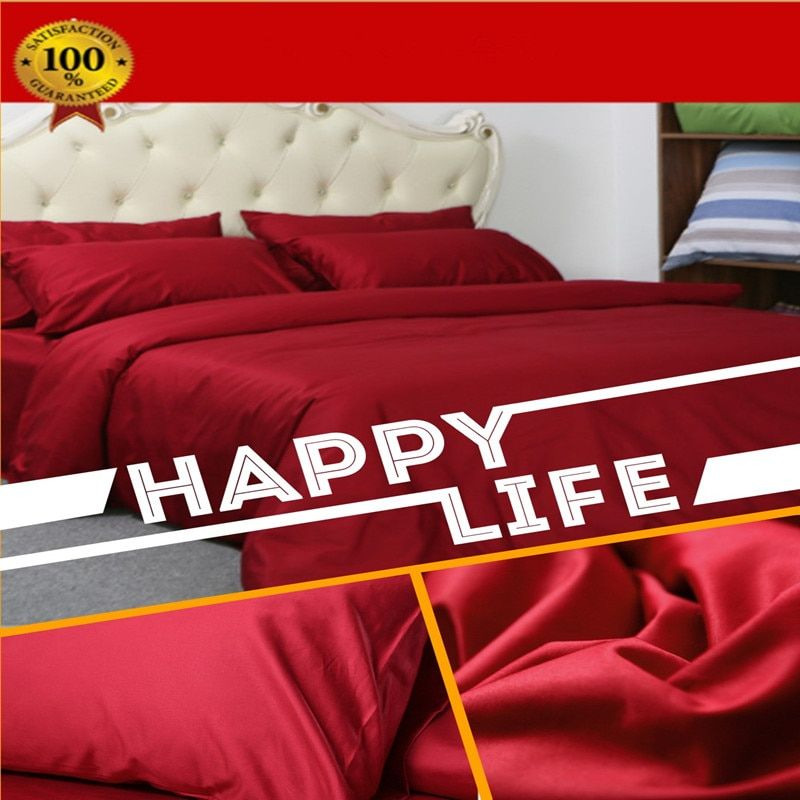 Luxury Design Flat sheet 1000 Thread Counts 100% Egyptian Cotton Solid Color 4-Pics Duvet Cover Set (Without Comforter)