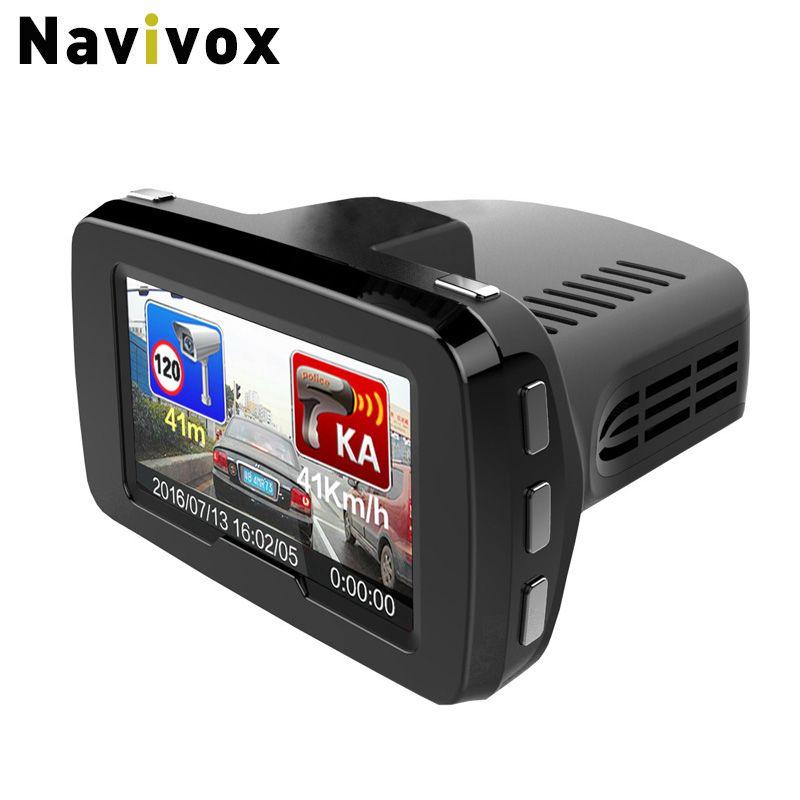 Navivox Car DVR Combo 3 in 1: DVR radar detector and GPS informer GPS receiver ( Only Russian) Full HD 1080P radar Detection
