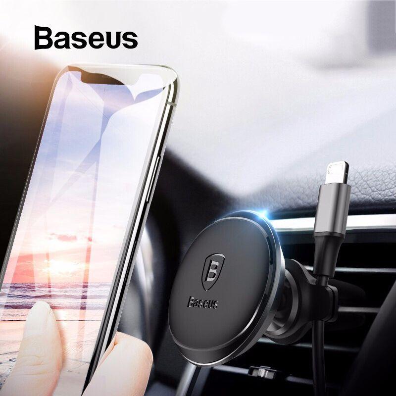 Baseus support de téléphone magnétique pour voiture Pour iPhone Samsung Aimant Mobile support pour téléphone Support D'évent de support pour voiture et Organisateur De Câble