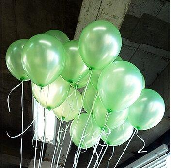 Latex Ballons 100 pcs 1.2g Vert Clair Enfants Fête D'anniversaire Fournitures Decoracion Halloween Decoracion De Cumpleaños Bébé Douche