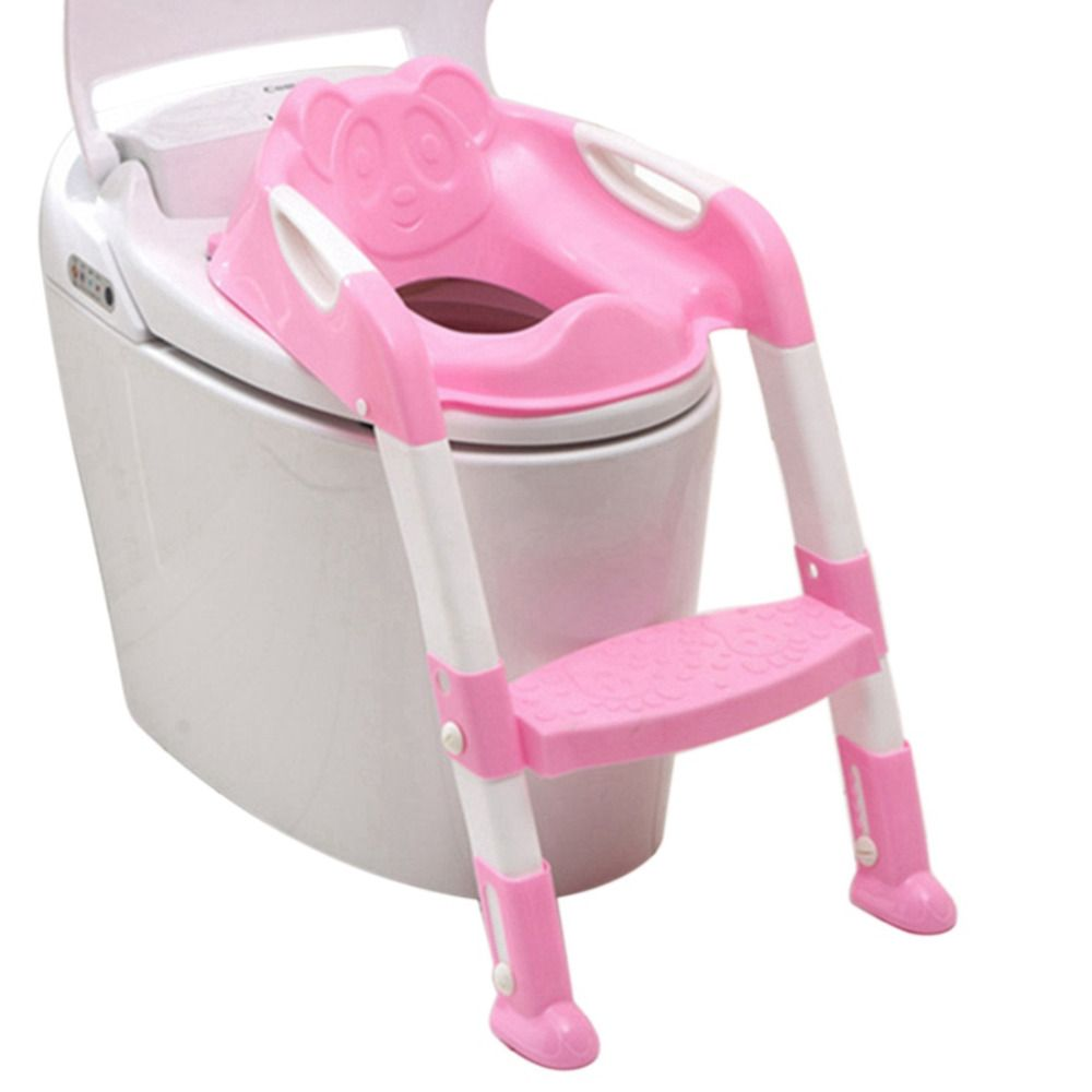 Baby Foldable Potty Kids Training Toilet Seat Anti-skid Toilet Seat Portable Travel Potty Training Safety Ladder Potty Chair