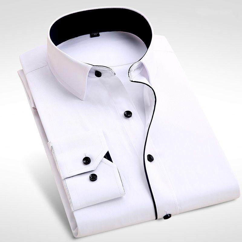 2018 Brand New Men Shirt Male Dress Shirts Men's Fashion Casual Long Sleeve Business Formal Shirt camisa social masculina