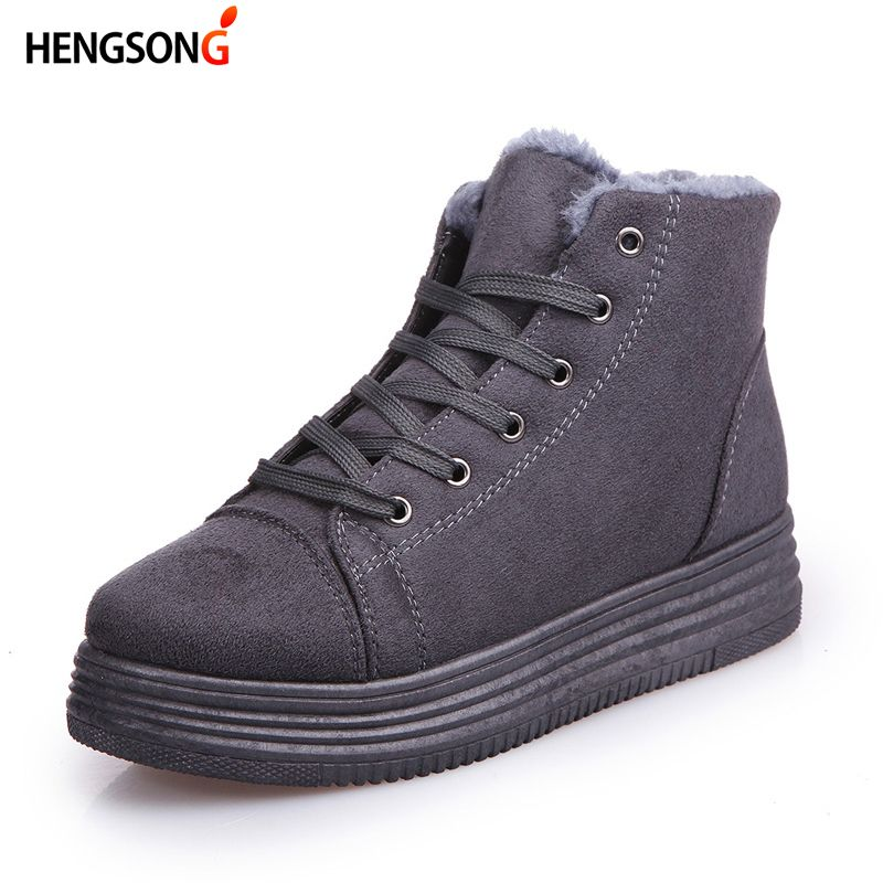 Women Winter Sneaker Shoes Suede Warm Platform Ankle Snow Boots Women Jogging Walking Shoes Sneakers Female Botas Mujer CU919765