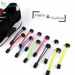 Sport Fitness Serrure dentelle 5 couleurs une paire De Verrouillage Chaussures Lacets Élastiques Baskets Lacets Shoestrings de Course/Jogging/Triathlon