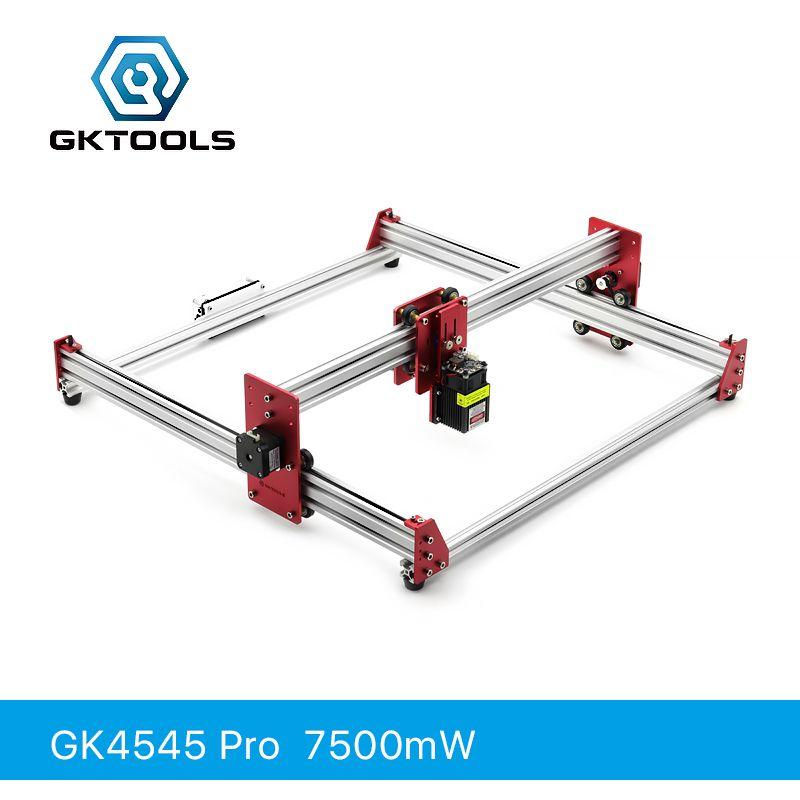 GKTOOLS Alle Metall 45*45 cm 7500 mW Holz Laser Engraver Cutter Gravur DIY Maschine Mini CNC Drucker PWM, benbox GRBL EleksMaker
