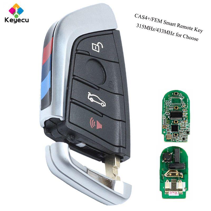 KEYECU YH Black Smart Remote key -Fob 315MHz/ 433MHz for BMW F Series CAS4+/FEM 2011-2017 X3 X4 2014-2017 F25 2014-2017 F87/F80