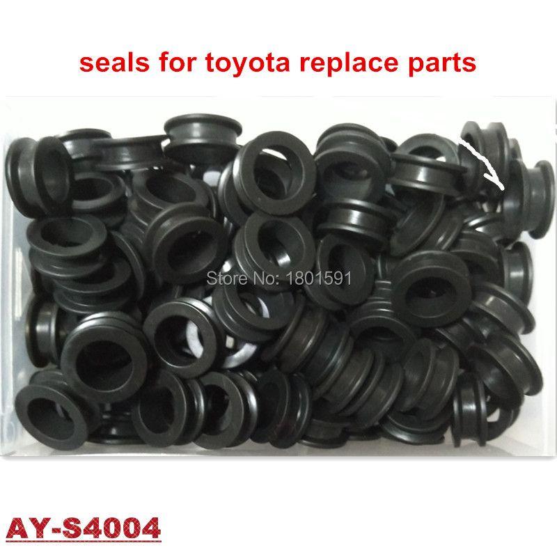 1000 pièces livraison gratuite caoutchouc viton joints carburant injecteur kits de réparation pour Toyota injecteur 23209-65020 (AY-S4004)
