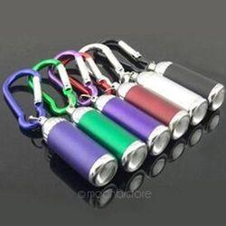Mini Flashilight torche Mousqueton Porte-clés Crochet Lampe De Noël Cadeaux LED Ultra Lumineux Lumière lampe de Poche Torche