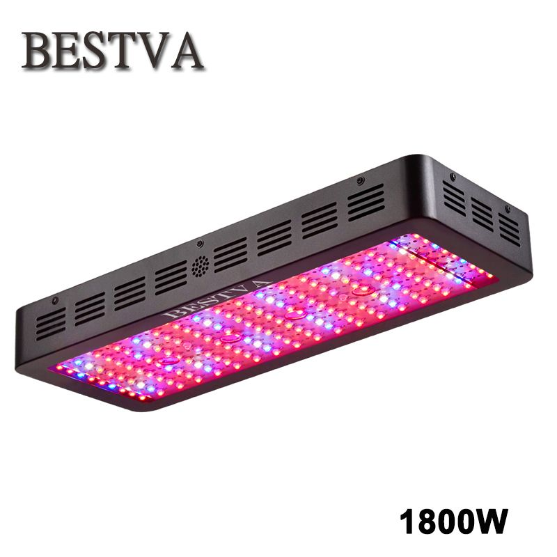 BestVA Black 1800W Double Chips Full Spectrum High Yield LED Grow Light For Indoor plants Hydroponics grow system