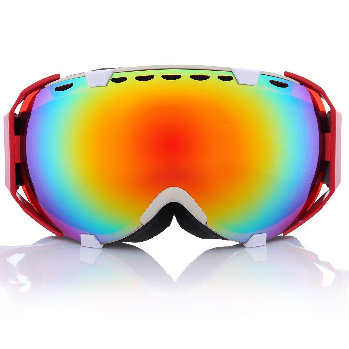 11 Цвета Профессиональный унисекс для взрослых Сноуборд горнолыжные очки Анти-туман УФ Двойной объектив Стекло Очки для лыжного спорта