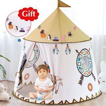 Двор детская палатка дом Портативный Принцесса замок 123*116 см подарок висящий флаг детская палатка игровая палатка на день рождения Рождест...