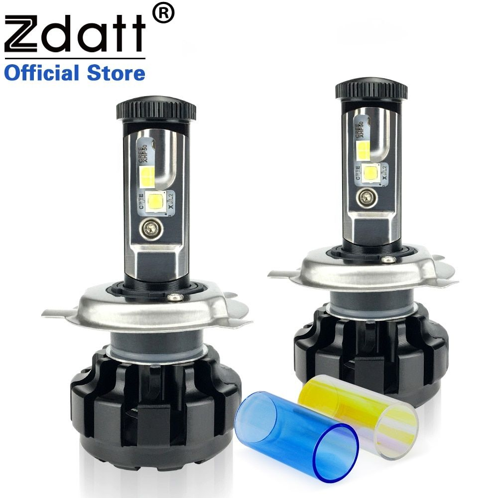 Zdatt 2Pcs 12000LM Car Led Headlights H4 H7 H8 H11 9005 HB3 Canbus Auto Led Bulb Hi Lo Beam 100W/Pair 12V Fog Lamp Automobiles