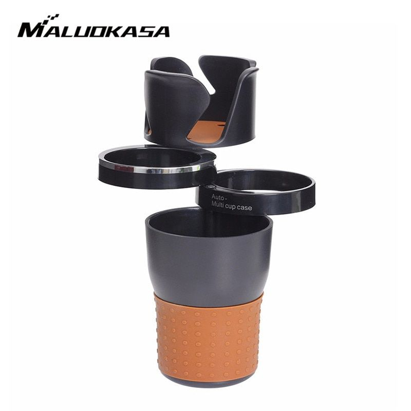 Car Organizer Cup Holder Foldable Drinking Bottle Coasters Sunglasses Cell Phone Organizer Stowing Tidying Auto Storage Cup