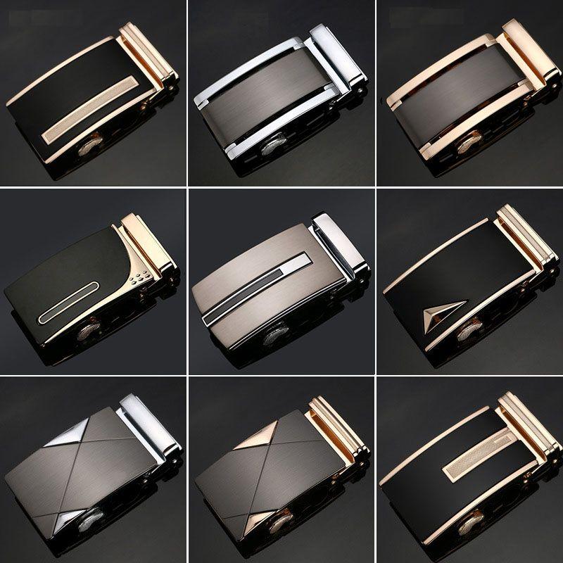 22 Style de luxe marque Designer boucle de ceinture mâle Kemer métal automatique boucle chevaux têtes de haute qualité or ceinture boucle hommes