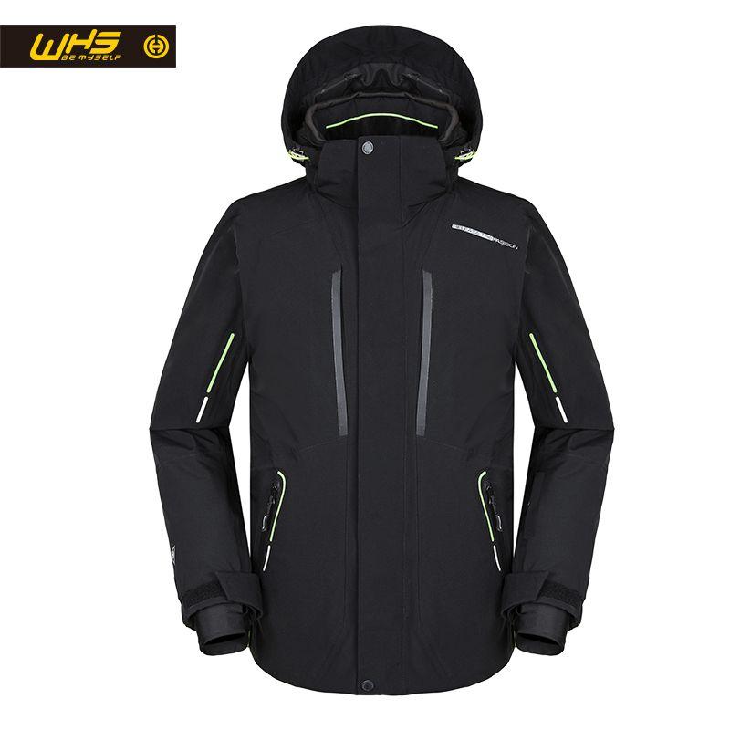 WHS 2018 Neue männer Outdoor Ski Jacken winddichte warme Mantel mens schnee jacke Warme jacke Mann intelligente beheizt ski jacke