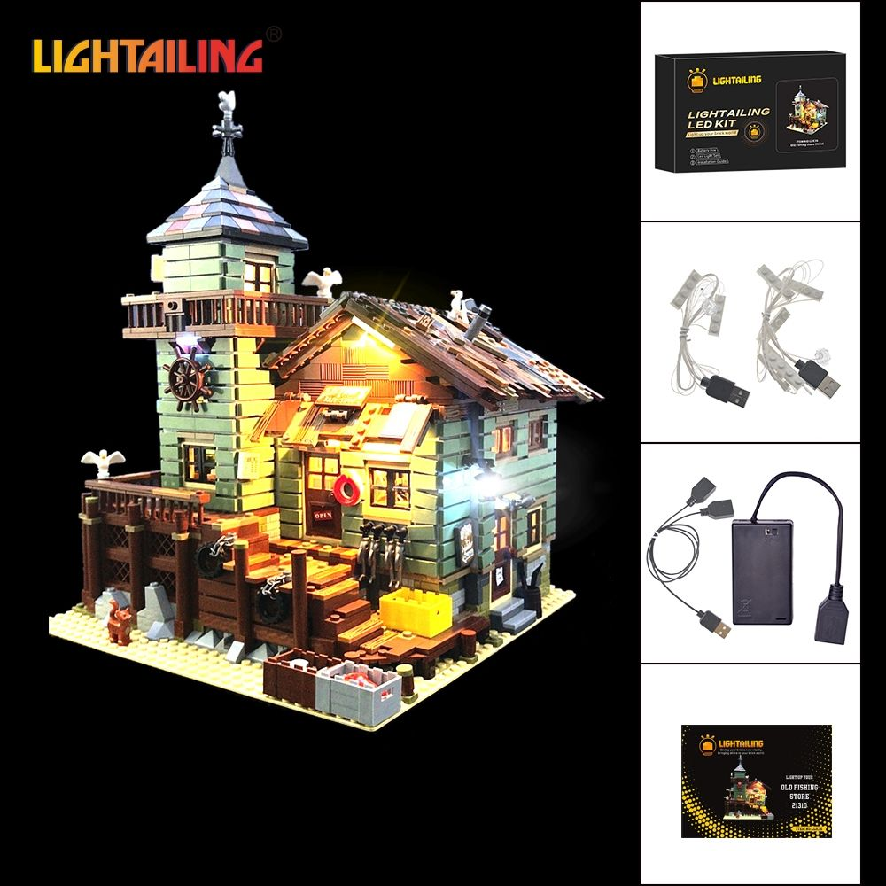 LIGHTAILING Led Light Up Kit For Old Fishing Store Model Building Block Light Set Compatible With 21310 And 16050
