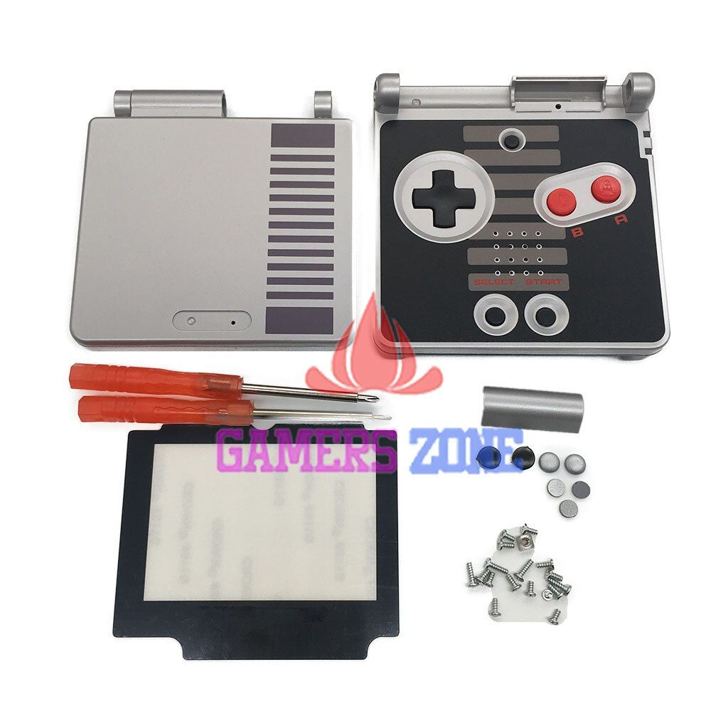 For GameBoy Advance SP Classic NES Limited Edition Replacement Housing Shell Screen Lens For GBA SP Housing Case Cover