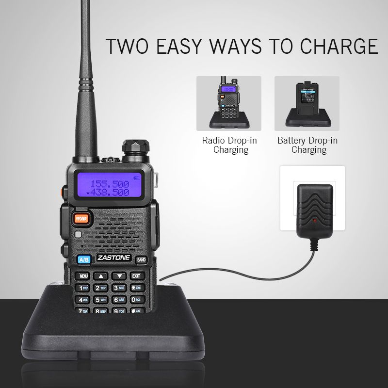 2pcs 5W walkie talkie dual bands 136-174mhz/400-520mhz vhf uhf ham radio handheld portable two way radio station