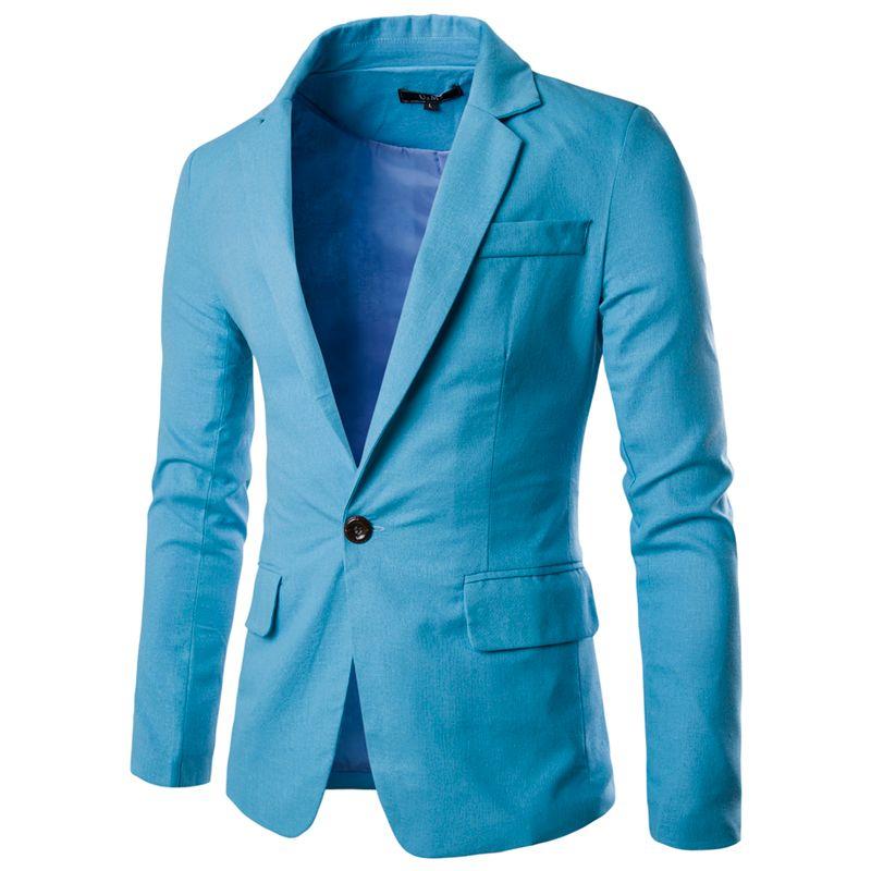 2016 новое поступление осень Повседневное Блейзер Для мужчин S Бизнес Slim Fit Blazer мужской пиджак пальто одной кнопки костюм Для мужчин Блейзер ...