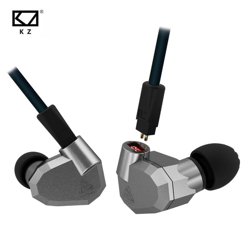 Original KZ ZS5 2DD+2BA Hybrid HIFI Earphones In Ear DJ Monito Super Bass Earplug Headsets Stereo Surround Earbuds For iPhone
