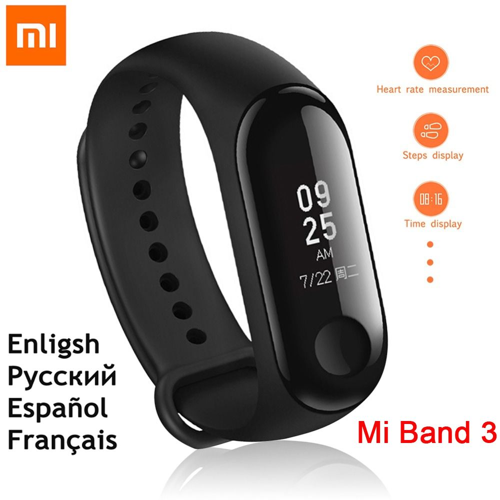 English Version!!!New original xiaomi miband 3 wristband mi band 3 Smart Bracelet android tracker xiao mi mi 3 band heart rate